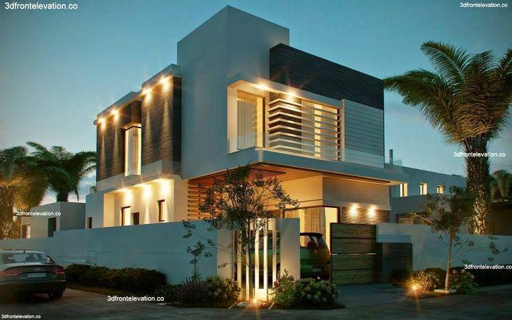 Modern Home Exterior Design Ideas 2017: 10 Marla Corner House Plan 3D Front Elevation Design