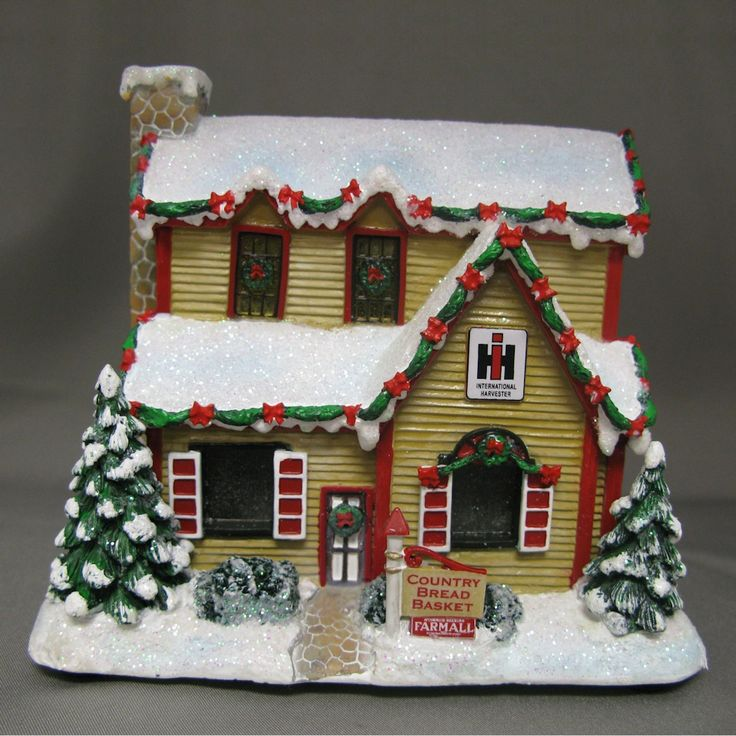 9 in series limited edition holiday village farmall house for International harvester decor