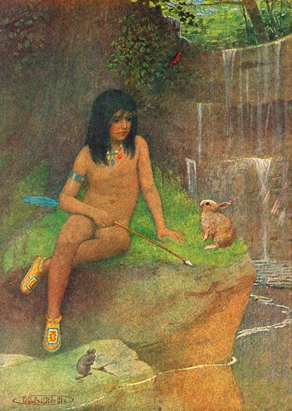 Hiawatha's Childhood - Illustration by Maria Louise Kirk ...