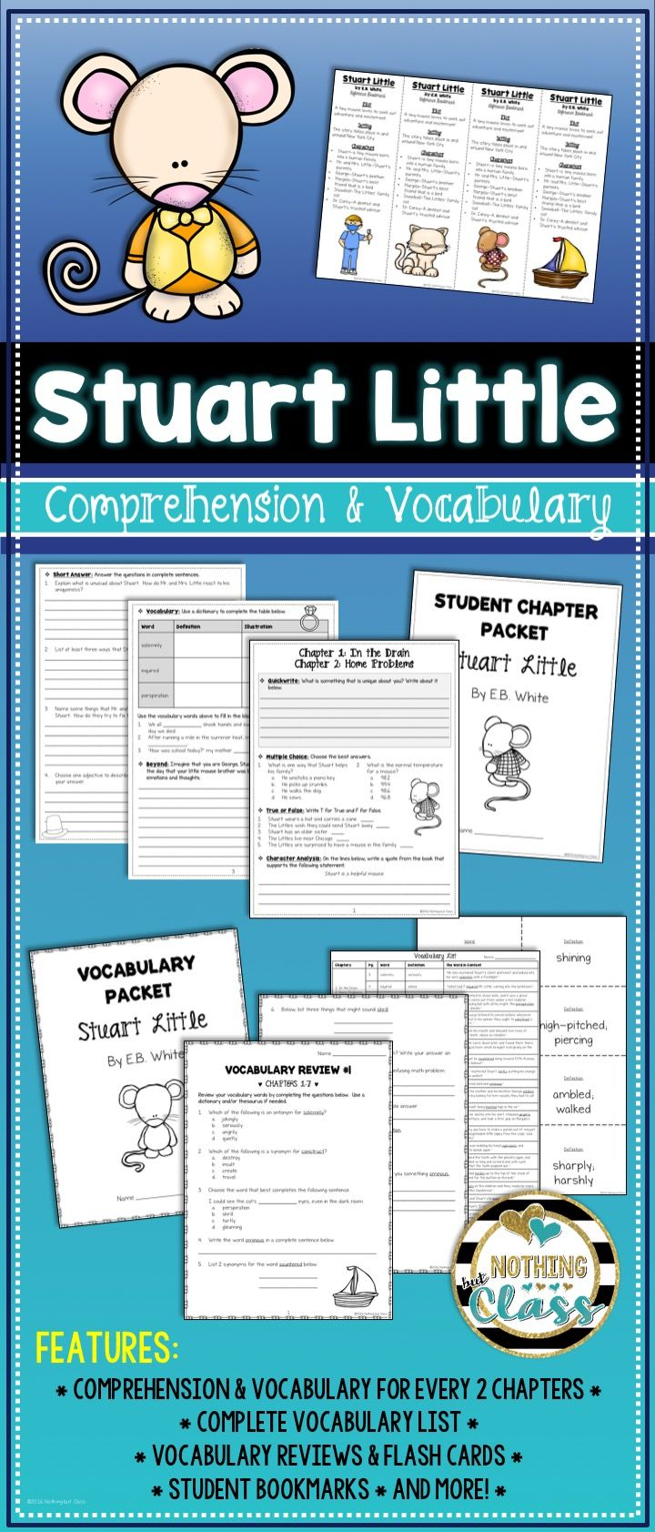 17 best ideas about stuart little mouse crafts stuart little comprehension and vocabulary by chapter