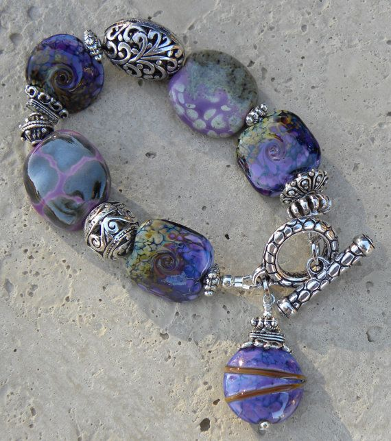 Beautiful variety of Kazuri African beads and lampwork beads along with Bali silver beads......