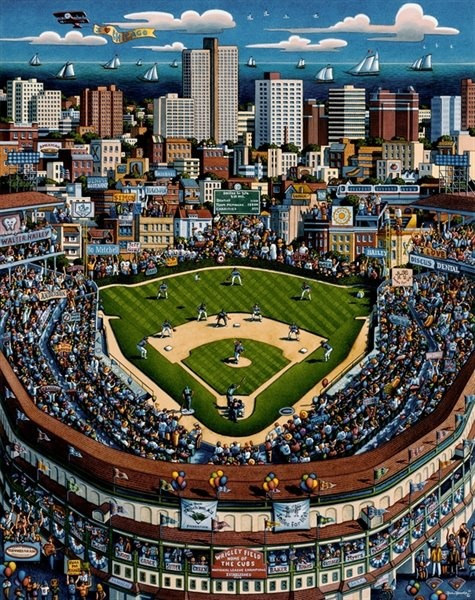 Wrigley Field, Chicago- I haven't gotten to see a game there yet. Mom, Ang & I visited in March 2004 or 2005.
