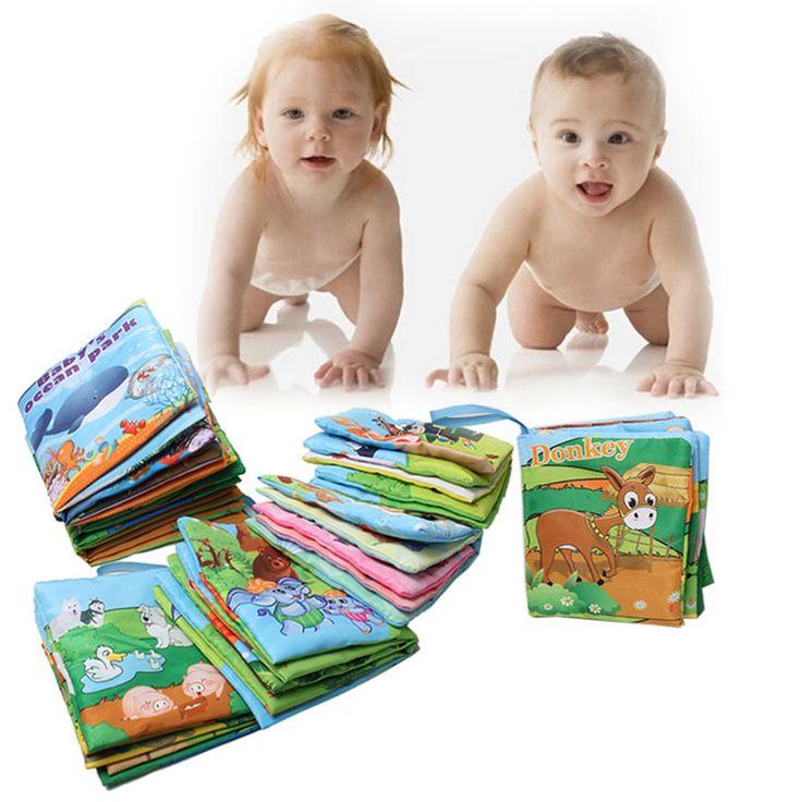 유아 아기 천 책 지능 개발 도서 장난감 학습 교육 전개 활동 책 유모차 액세서리