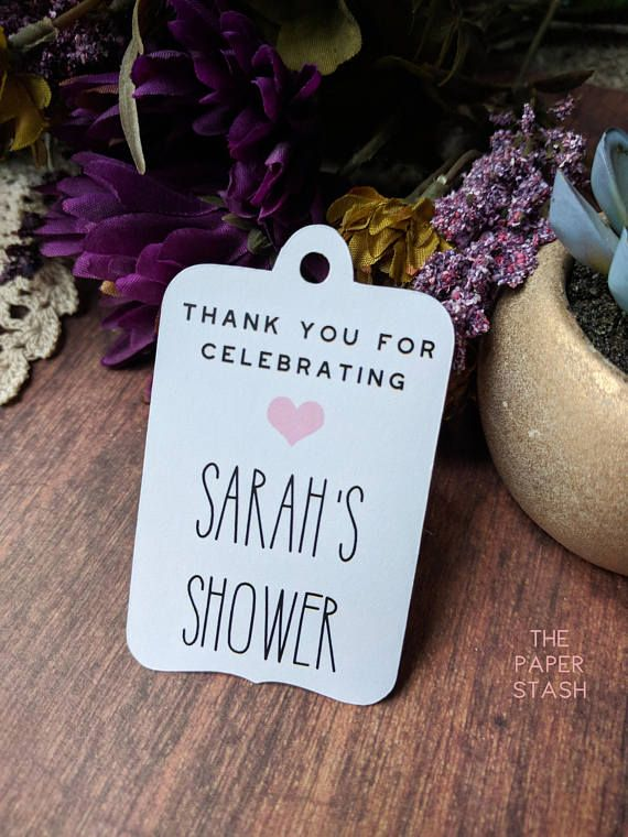 Thank You for Celebrating Tags Custom Bridal Shower Gift