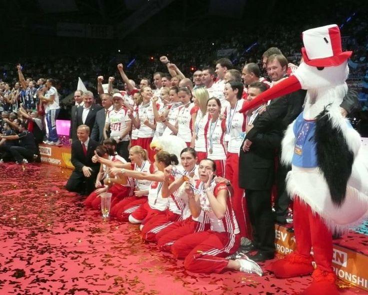 2009, Poland won bronze medalist in European Championships in Poland, photo: Renata Respondek #volleyball