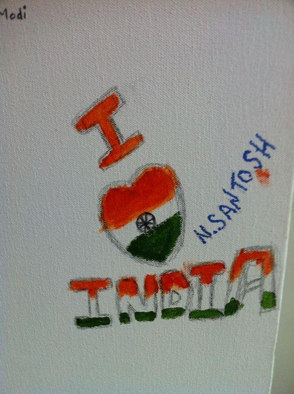 I #love India #IndependenceDayFeviArtWay