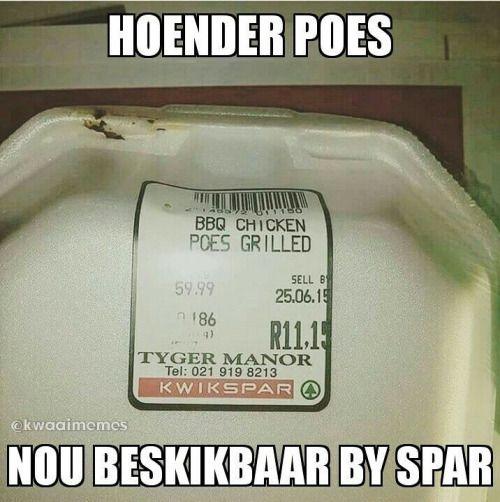 Hoender poes nou beskikbaar by jou naaste Spar teen R59.99 per...