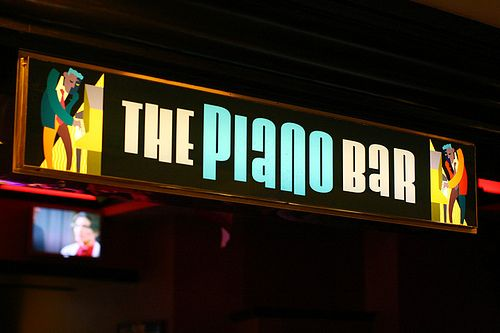 The Piano Bar - Harrah's, Las Vegas! Watched a man do air guitar in his underwear... True Story!!