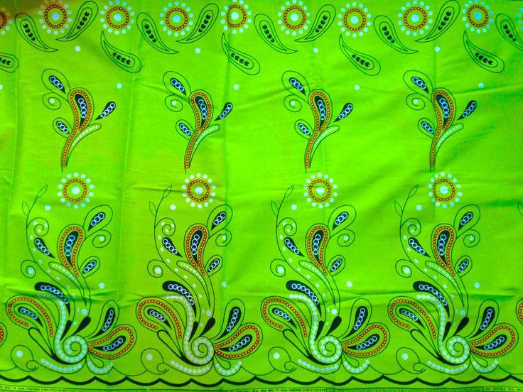 """Stoff afrikanisch - afrikanischer Stoff: Kitenge """"greenery"""" Frühling - ein Designerstück von Madukani bei DaWanda"""