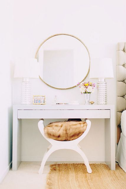 Pretty Makeup Vanity - I'm going to need one in my new walk in closet that Travis and I are working on