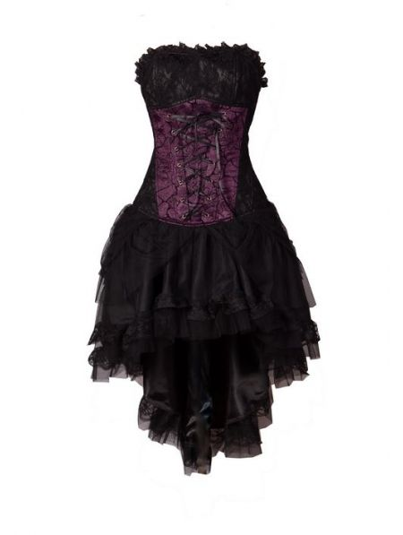 Purple Corset High-Low Gothic Party Dress - something like this for all of the waitresses to wear