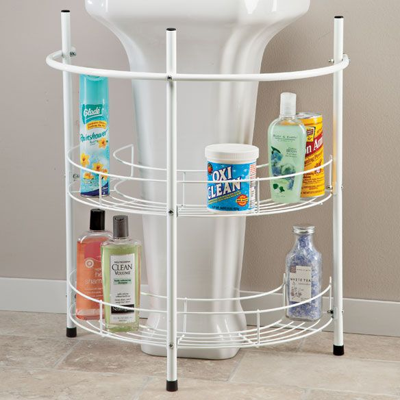 Under Pedestal Sink Storage - Zoom