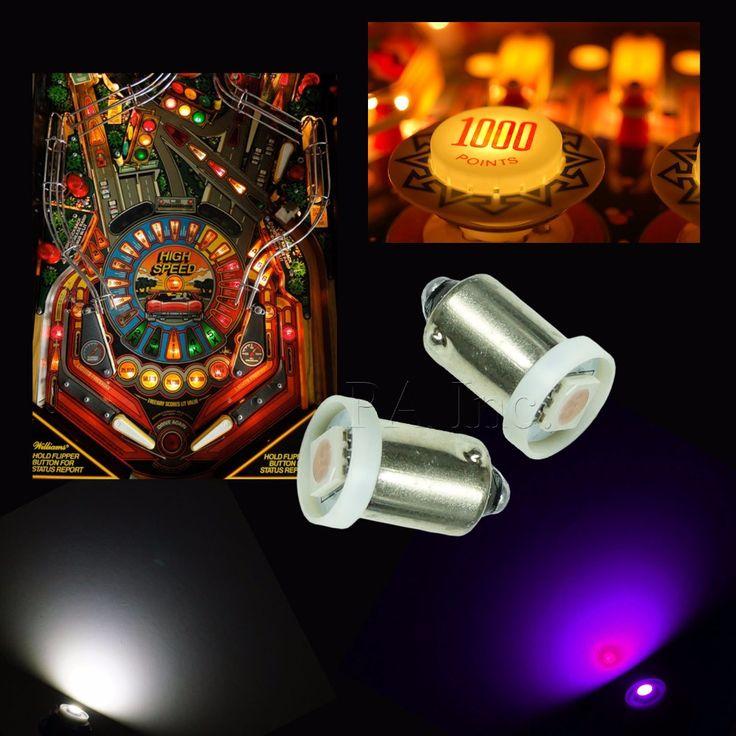 10 ШТ. 6.3 В AC DC Не ореолы Ba9s #47 Пинбол СВЕТОДИОДНЫЕ Лампы Розовый (Пурпурный) ПА