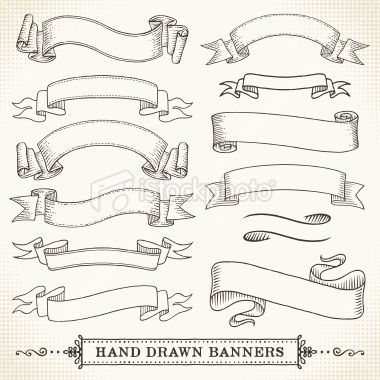 Hand Drawn Banners Royalty Free Stock Vector Art Illustration