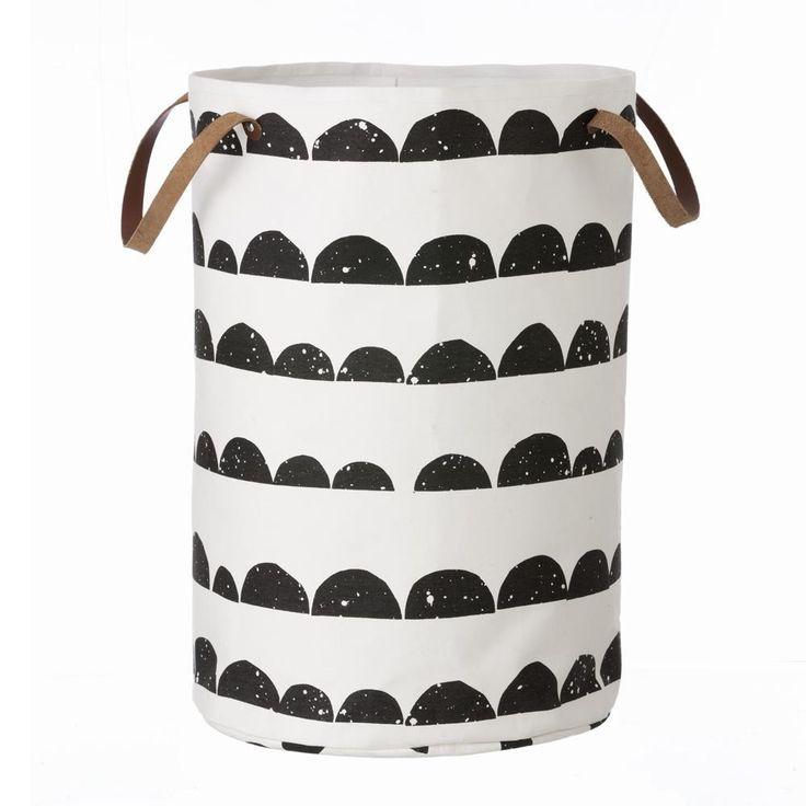 Skandinavische stoffe schwarz weiss  Die besten 10+ Wäschekorb stoff Ideen auf Pinterest | Wäschesack ...