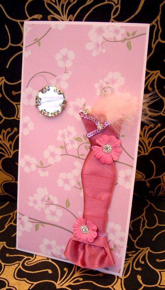 388 best dress card images on pinterest paper dresses dress card cherry personalised dress card handmade greeting card m4hsunfo