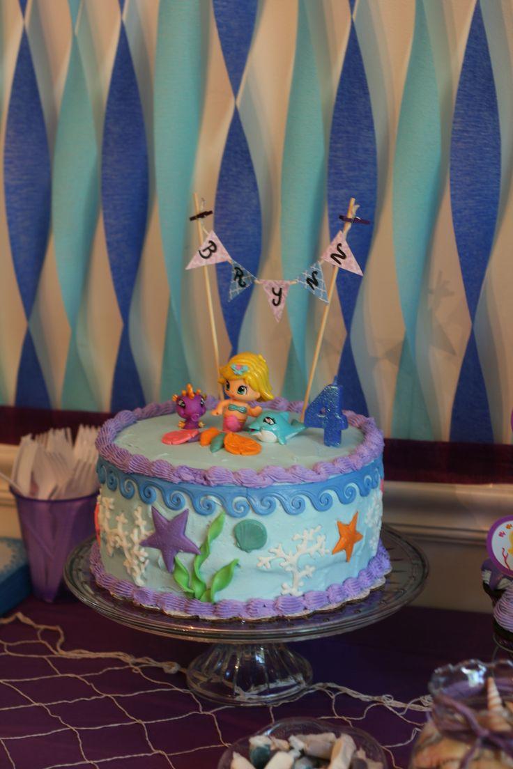 Mermaid Cake , Mermaid Party, PinyPon Mermaid topper