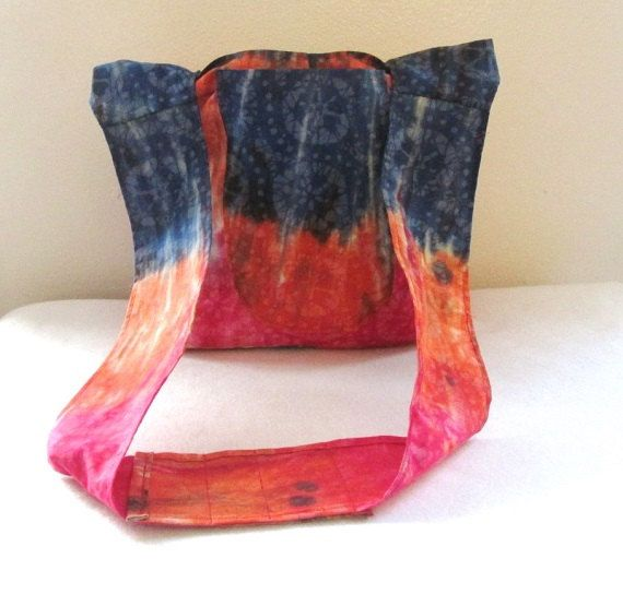 Tie Dye Cross Body Slouch Tote Bag with Pockets by homesewnbykate, $28.00