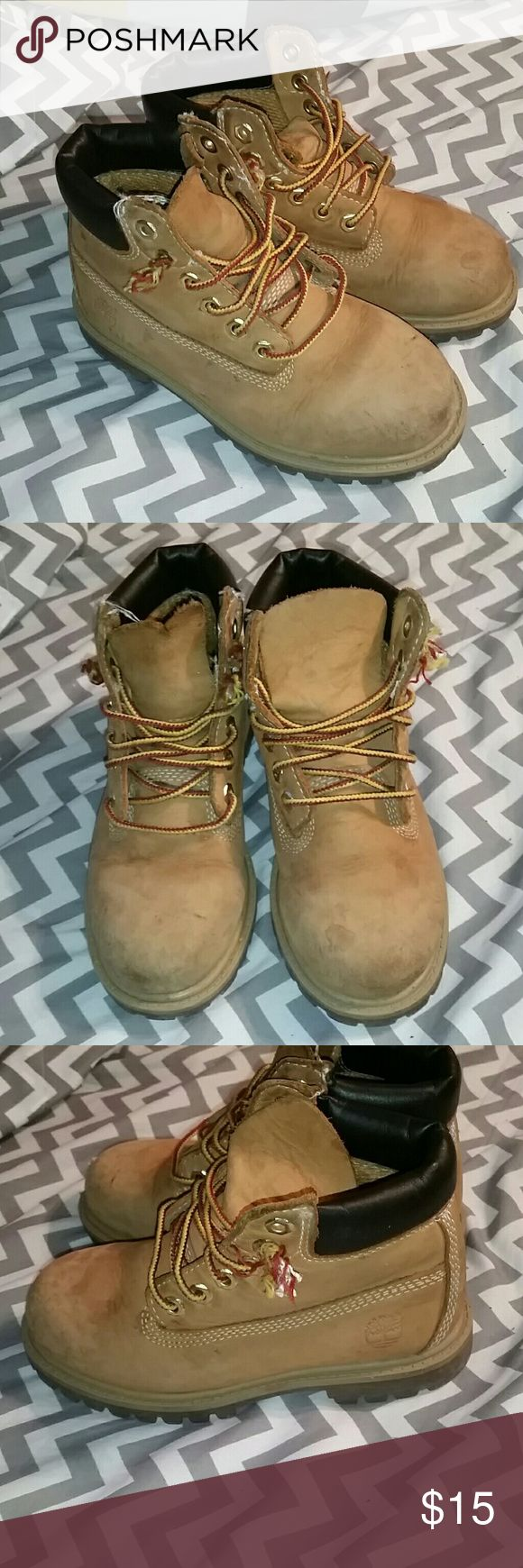 Little boy timberland boots A little bit of wear. But are in good condition Timberland Shoes Boots