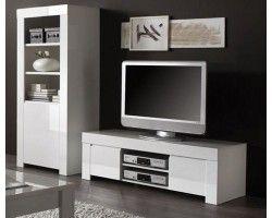 """Meuble télé moderne blanc laquée """"Trendy"""""""