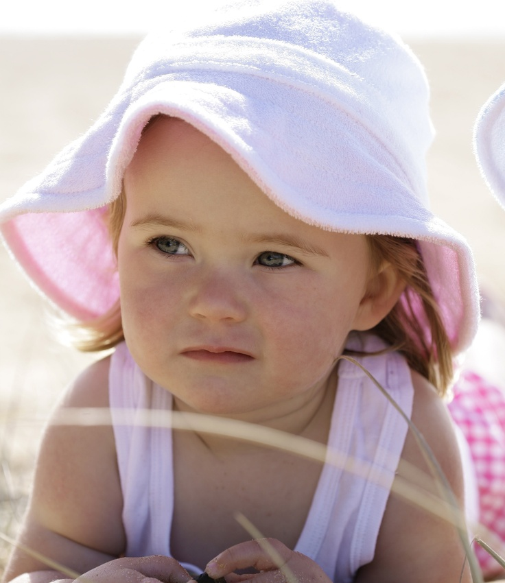 White & Pink Terry Hat...So cute!