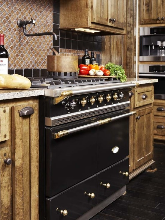 Matte Black Cluny Lacanche Range With Brass Trim A True