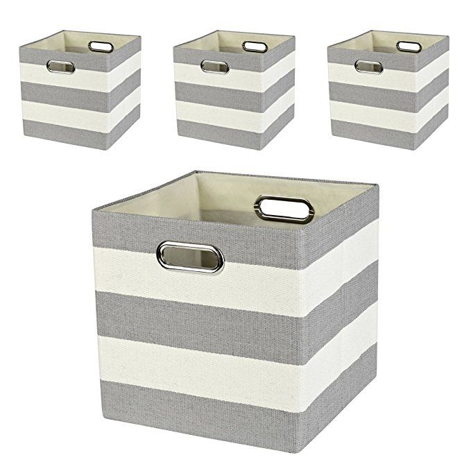Amazon Com Closet Organizer Collapsible Fabric Storage Cubes Container Baskets Boxes 4 Cubeicals Bins Drawer Storage Bins Cube Storage Fabric Storage Cubes