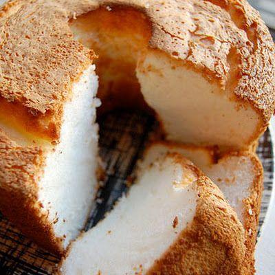 Sugar Free Angel Food Cake @keyingredient #cake #recipes