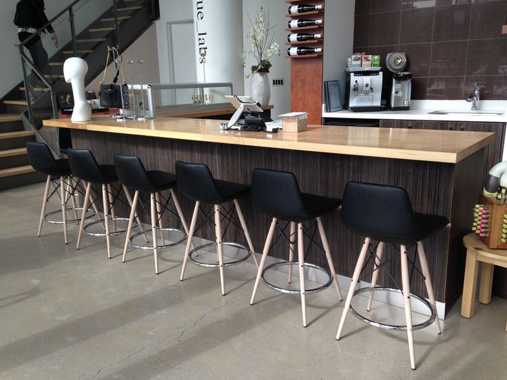 """This s a unique stool with a comfortable upholstered seat and backrest on a powder-coated steel frame. Each leg is tipped with a plastic glide inserted to the foot. With its chromed steel tubular footrests, it becomes an ideal solution for kitchen and bar counters. The footrests are fixed inside the four-leg frame. The seat has a steel structure with """"S"""" shape springs for extra flexibility and strength. This steel frame molded by injecting polyurethane foam. available @ Furniture Toronto"""