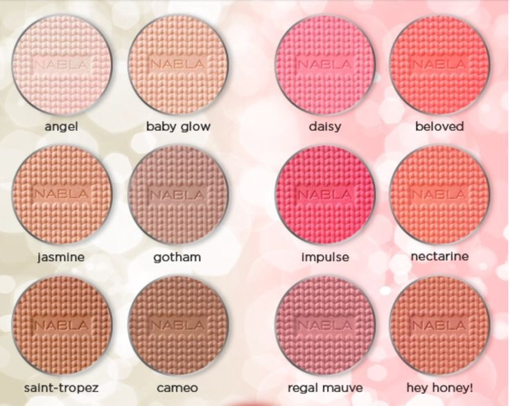 Nabla Face blushes/bronzers