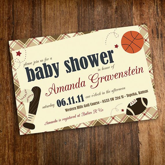 Our Little MVP Vintage Sports Baby Shower by jenrikdesigns on Etsy, $15.00