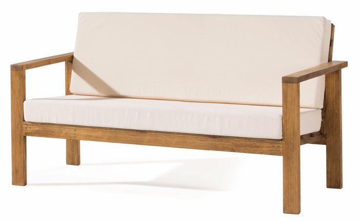 Sofá rústico de 3 plazas con brazos de madera, también disponible en 2 plazas, compralo en: http://rusticocolonial.es/mueble-rustico-y-mueble-mejicano-de-gran-calidad-al-mejor-precio/muebles-de-salon-rusticos-y-mejicanos-de-gran-calidad-al-mejor-precio/busca-tu-mueble-de-salon-rustico-por-colecciones/coleccion-minimal