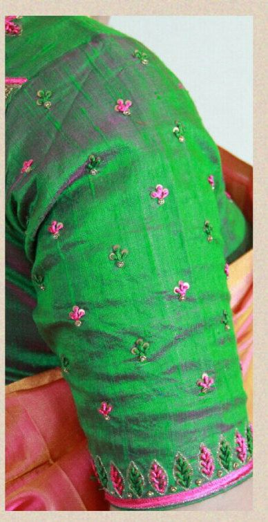Pure Uppada Pattu Saree with Contrast Blouse. by SrstiCollections