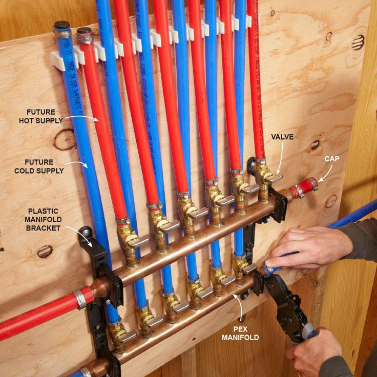 Do I Have to Use Manifolds with PEX? - No. You can install PEX just like you would other pipe, with main lines and branches to each fixture. But you lose a lot of the benefits of PEX with this system since it requires so many fittings. With the home-run system, you install a manifold in the utility room or some area that's close to the main water line and water heater, and run a separate PEX tube to each fixture as shown above. This system uses more tubing but is fast and only requires two…