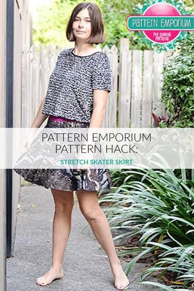 How to make a stretch skater skirt using the Pattern Emporium (woven) skater skirt pattern.