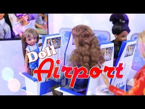 DIY - EASY | How to Make: Doll Airport Multi Room Folding Dollhouse - Simple and Portable - 4K - YouTube