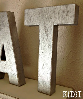 Here's What You'll Need:  Metallic Spray Paint  Paper Mache Letters  Sand Paper
