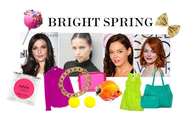 """bright spring celebrities"" by stylist-vera on Polyvore featuring Mulberry, Stephanie Johnson, NYX, Laundry, Liebeskind, AMBUSH, Spring, coloranalysis, brightspring and type1"