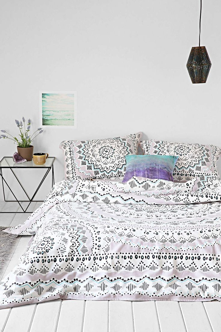 Plum Amp Bow Mia Medallion Duvet Cover ベッドルーム、エスニック、床