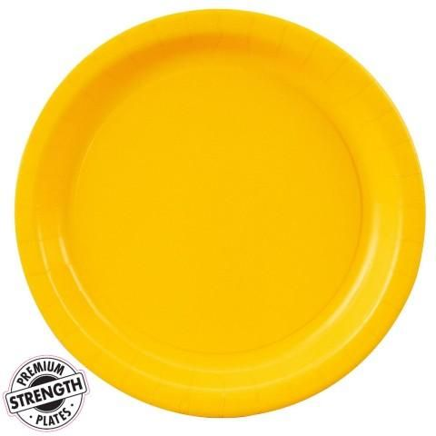 School Bus Yellow (Yellow) Dinner Plates (24 count) ($)