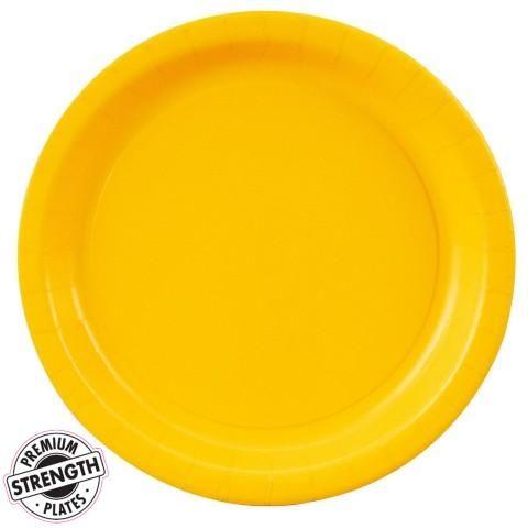 School Bus Yellow (Yellow) Dinner Plates (24 count) ($)