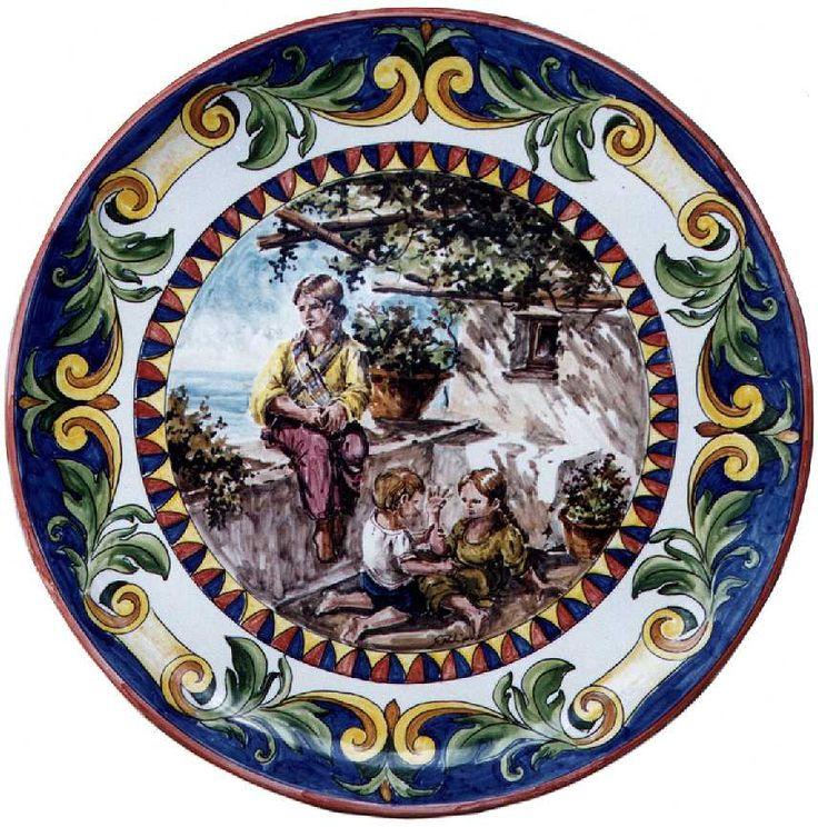 """Piatto in ceramica """"Tre fanciulli"""""""