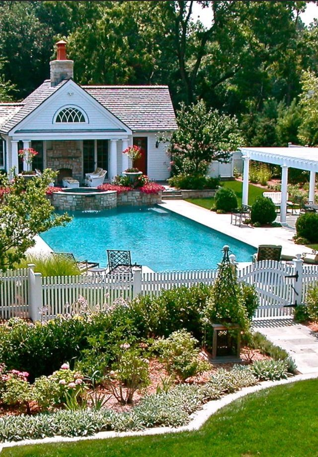 Luxury homes my backyard could look like pinterest for Outdoor pool house
