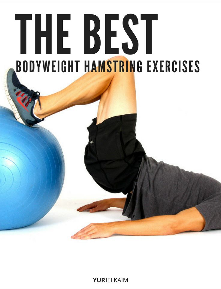 Whether it's a hamstring strain, knee pain, or low back pain – often times it's because you have weak and tight hamstrings. Here's the solution – 27 of the BEST exercises you can do anywhere, anytime (bodyweight-only) for stronger, more sculpted hamstrings. Start adding these to your workouts.