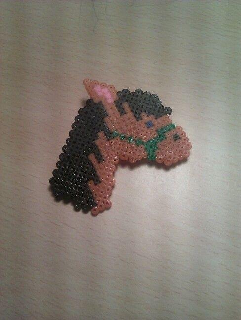 Broche Caballo. Hama Beads mini.