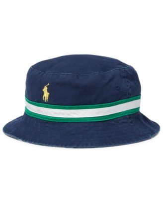 Polo Ralph Lauren Men's Big & Tall Cotton Reversible Bucket Hat - Newport Navy/White 2XL