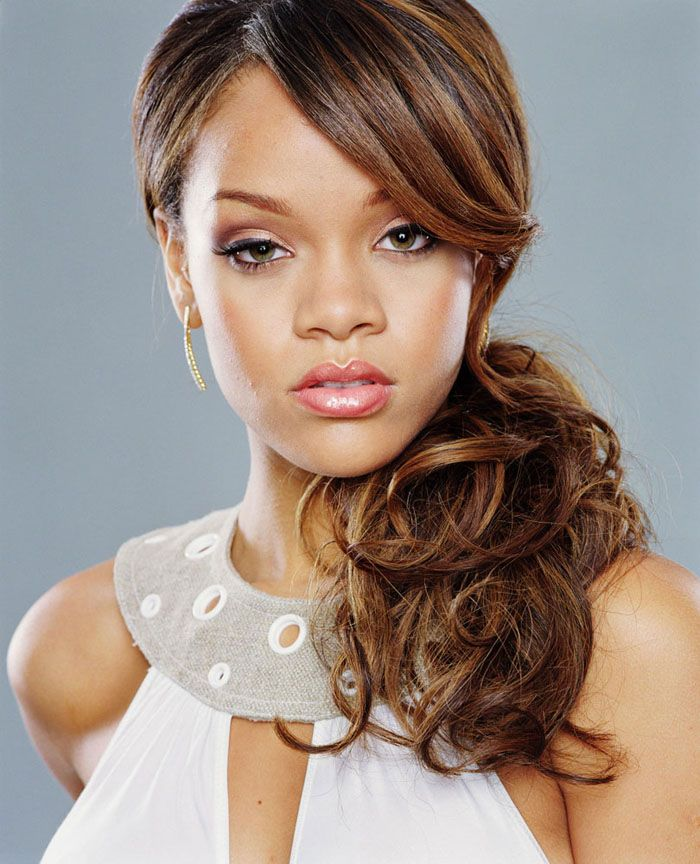 Wedding Hairstyle Ponytail: White, Black And Gold Wedding Make Up. African American
