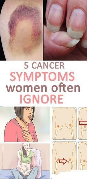 Warning cancer symptoms and signs.