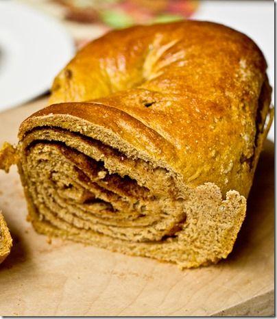 Whole Wheat Pumpkin Cinnamon Swirl Bread - so good