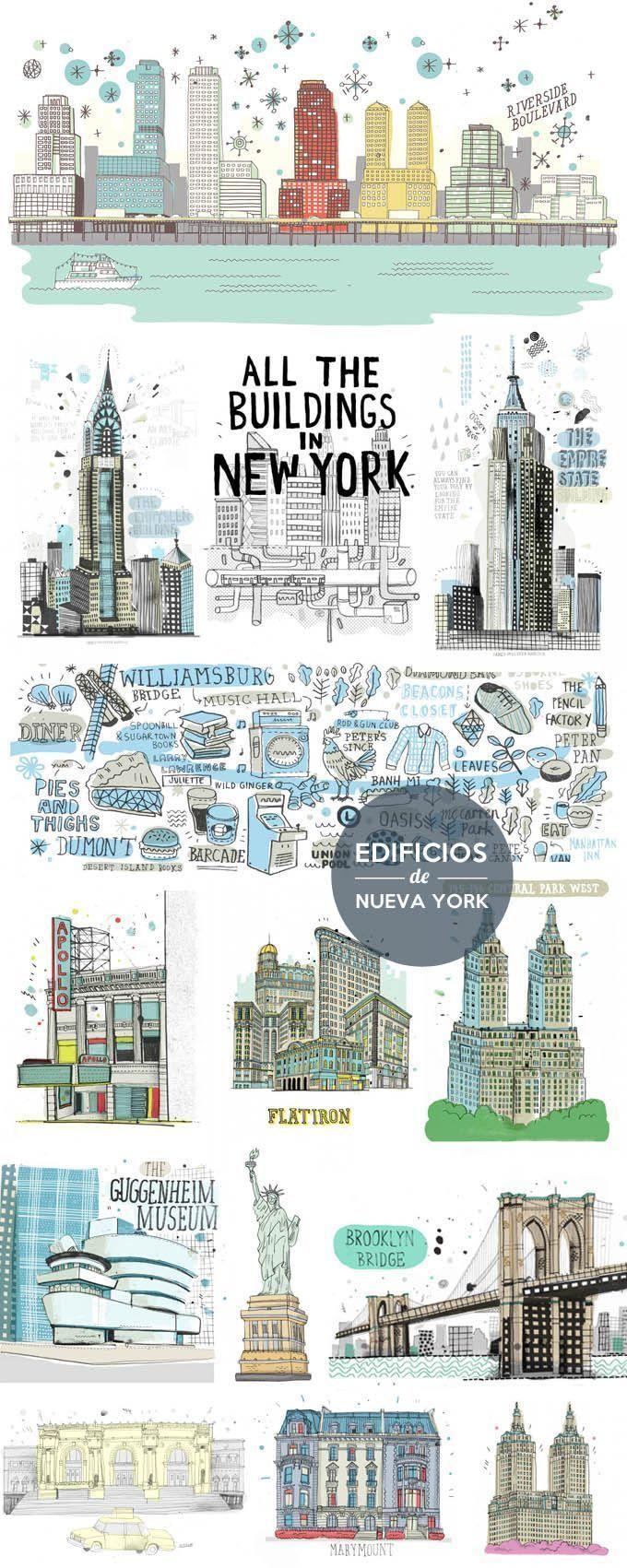 Ilustraciones de Nueva York – #building #de #Ilust…